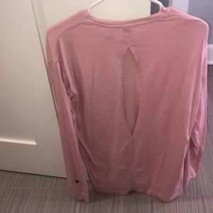 VS PINK OPEN BACK LONG SLEEVE